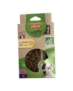 Zolux Mooky Friandises Woofies Bio au fromage pour chien 80 g
