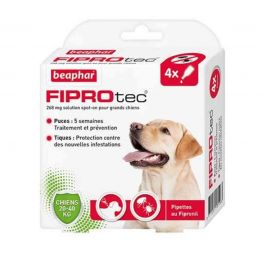 Beaphar Fiprotec Chien 20 - 40 kg 4 pipettes