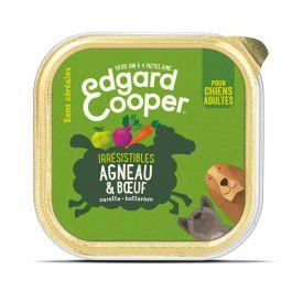 Edgard & Cooper Barquette Agneau et Boeuf pour chien 11 x 150 g