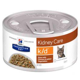 Hill's Prescription Diet Feline K/D mijotés poulet et légumes 24 x 82 g